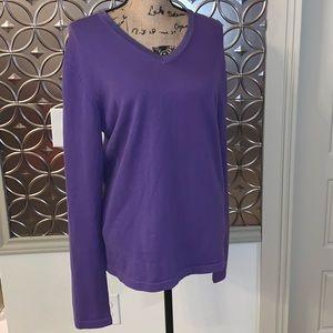 Michael Kors Women's Purple Sweater Size Medium